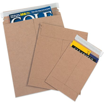 Kraft Self-Seal Flat Mailers Kraft packaging sold by Ameripak, Inc.
