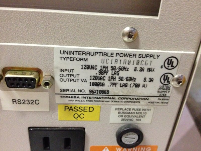 TOSHIBA 1400S PLUS SERIES Power supply (Used) - sold by Aevos Equipment