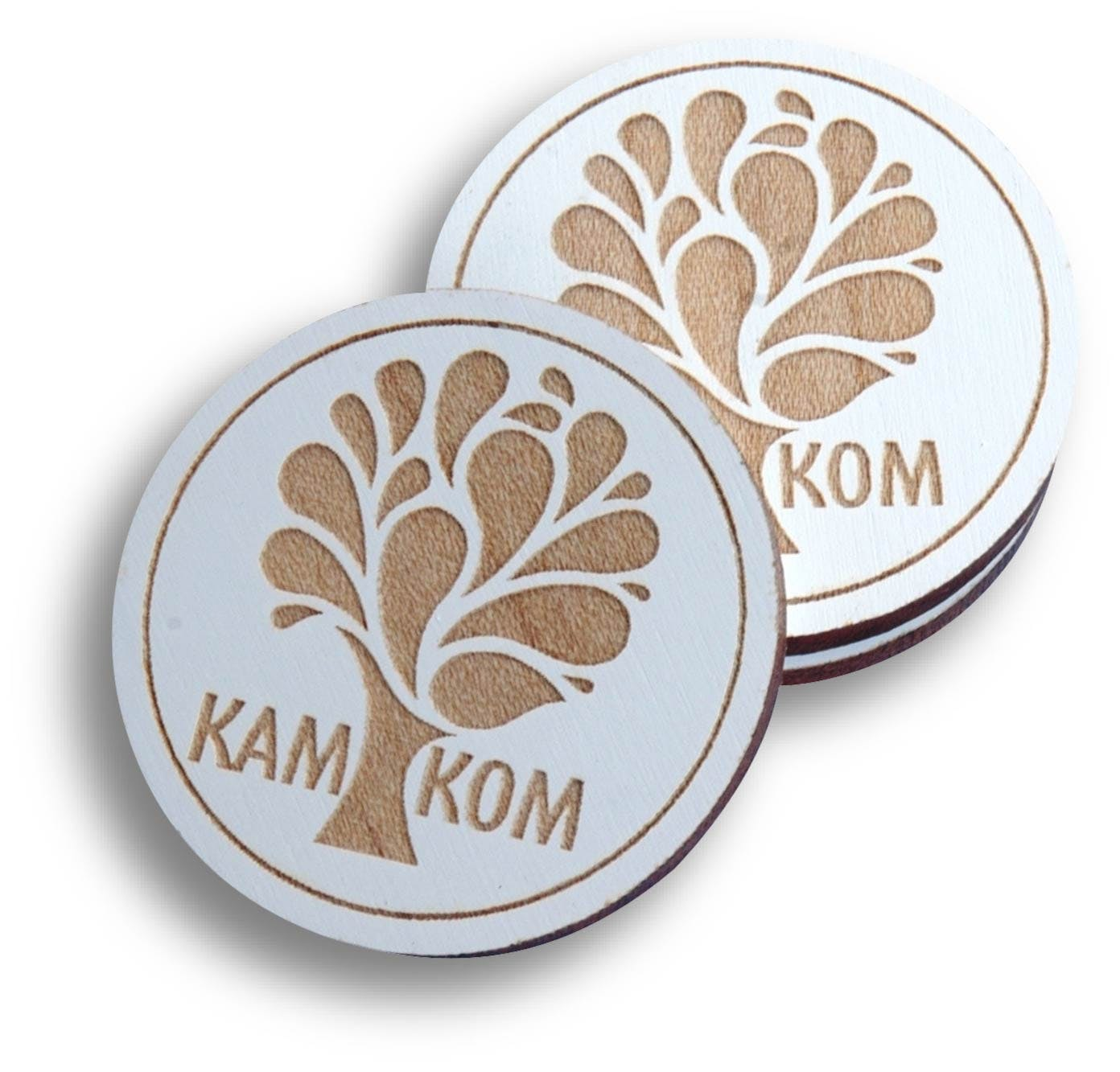 White Wooden Nickel (Item # XGGLM-IMJRF) Promotional token sold by InkEasy