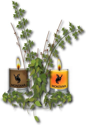 2.5 oz Votive plus Personalized Holder Candle sold by Montana Candleworks