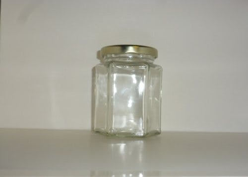 270ml. Hex Jar - Hex glass jars - sold by Cape Bottle Company, Inc.