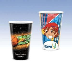 Tall 16oz-Heavy Duty Paper Cold Cup-Hi-Definition Full Color Disposable cup sold by Ink Splash Promos, LLC