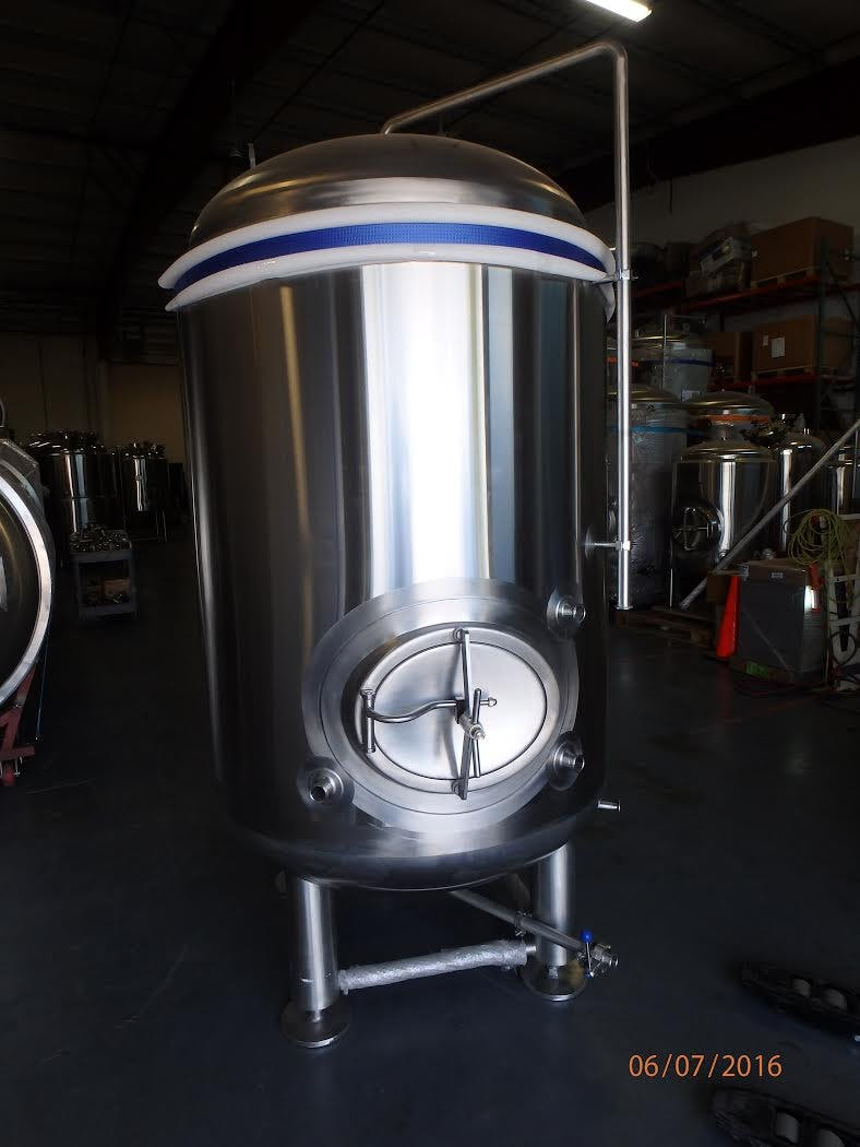 15 bbl jacketed bright tank Bright tank sold by GLACIER TANKS