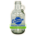 Clear Mini-Growler, 750 ml - Growler sold by Coburn Pressworks