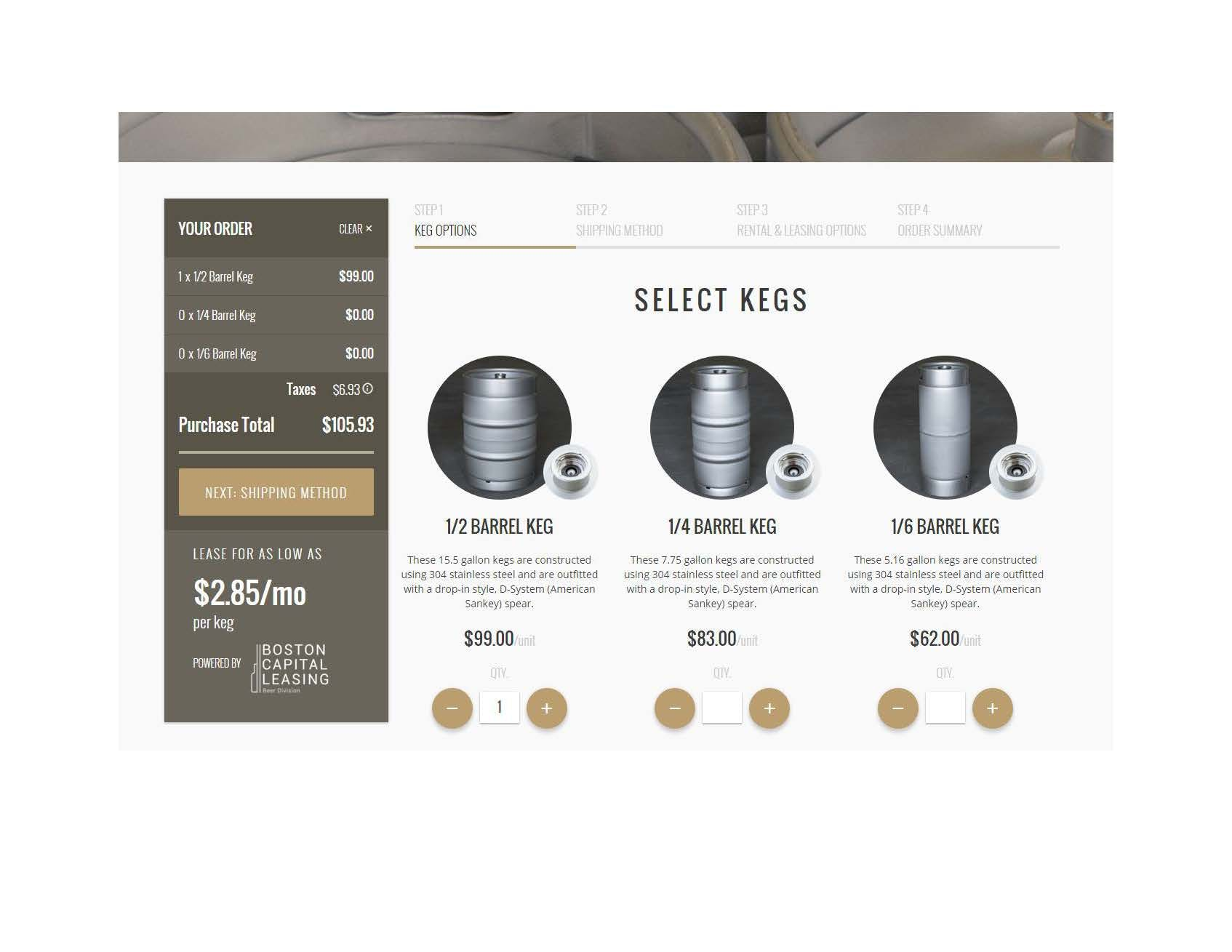Our Website Keg sold by InstantKegs.com