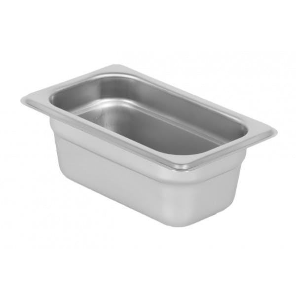 """2.5"""" Ninth Size Stainless Food Pan"""