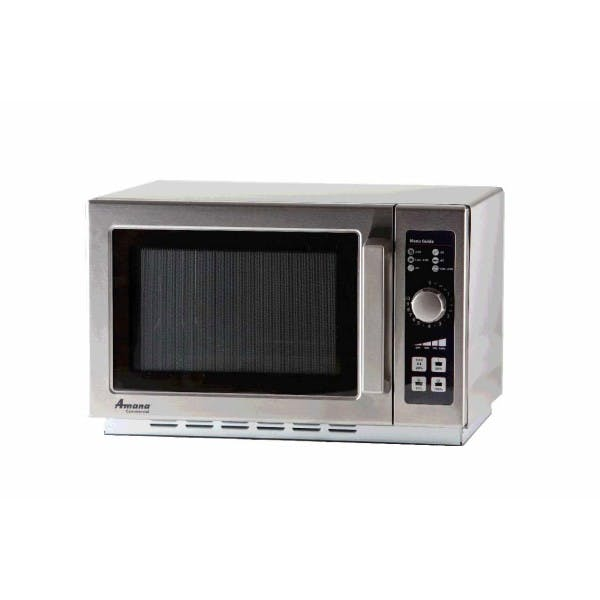 1000w Stainless Microwave Oven w/ Dial Timer