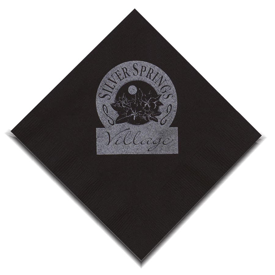 Black Velvet Beverage Napkin (Item # QIGIP-JKEBK) Napkin sold by InkEasy