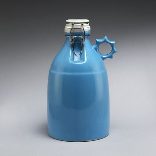 The Sprocket - Gloss Blue 64oz Growler sold by Portland Growler Company