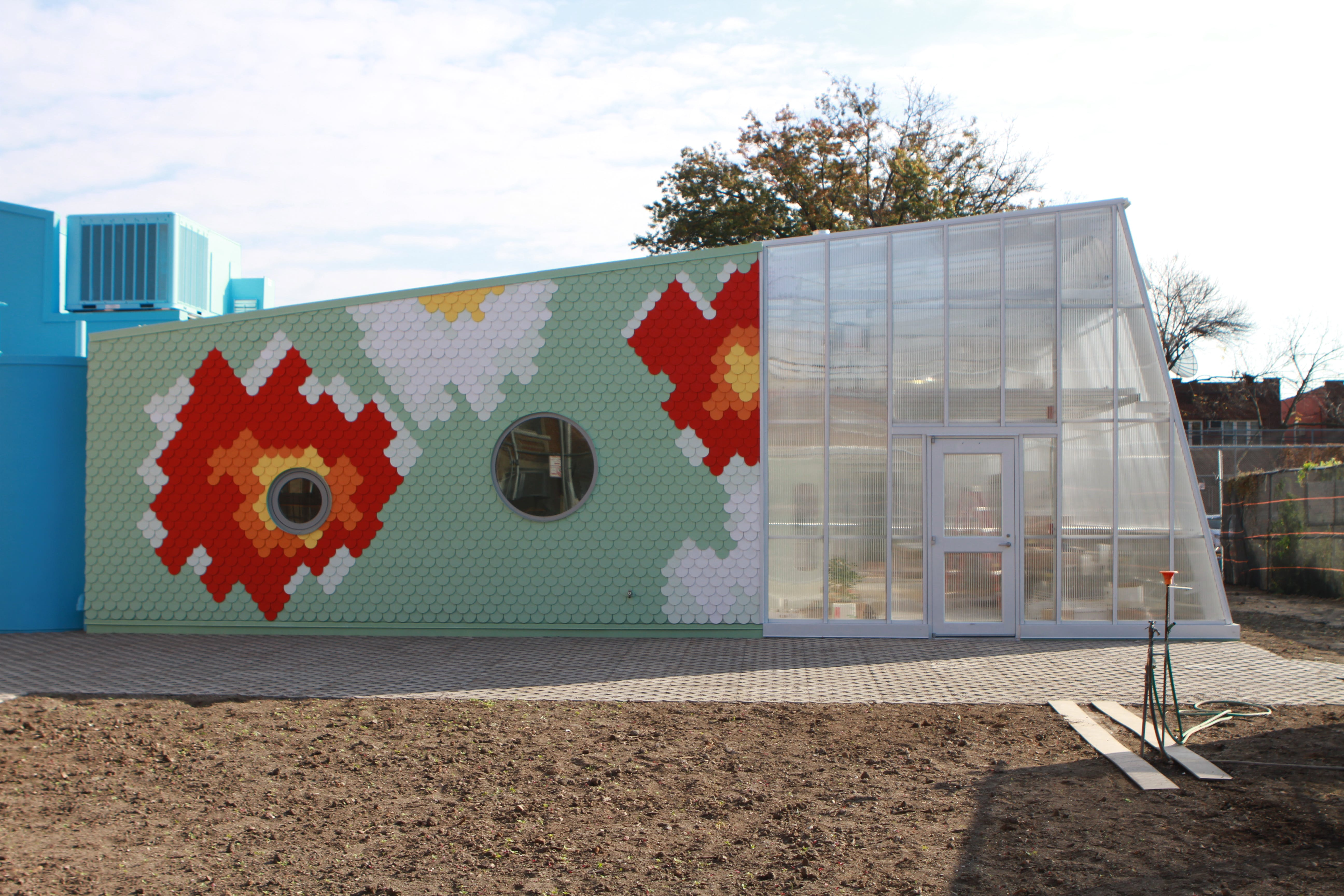 The Edible Schoolyard Greenhouse at PS 216 in Brooklyn, NY - Cross Country Greenhouses - sold by BC Greenhouse Builders Ltd.