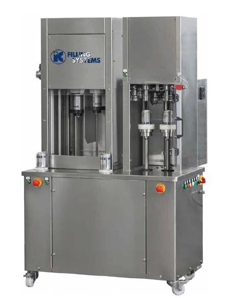 Rinser Filler Seamer for cans Can filler sold by IC Filling Systems