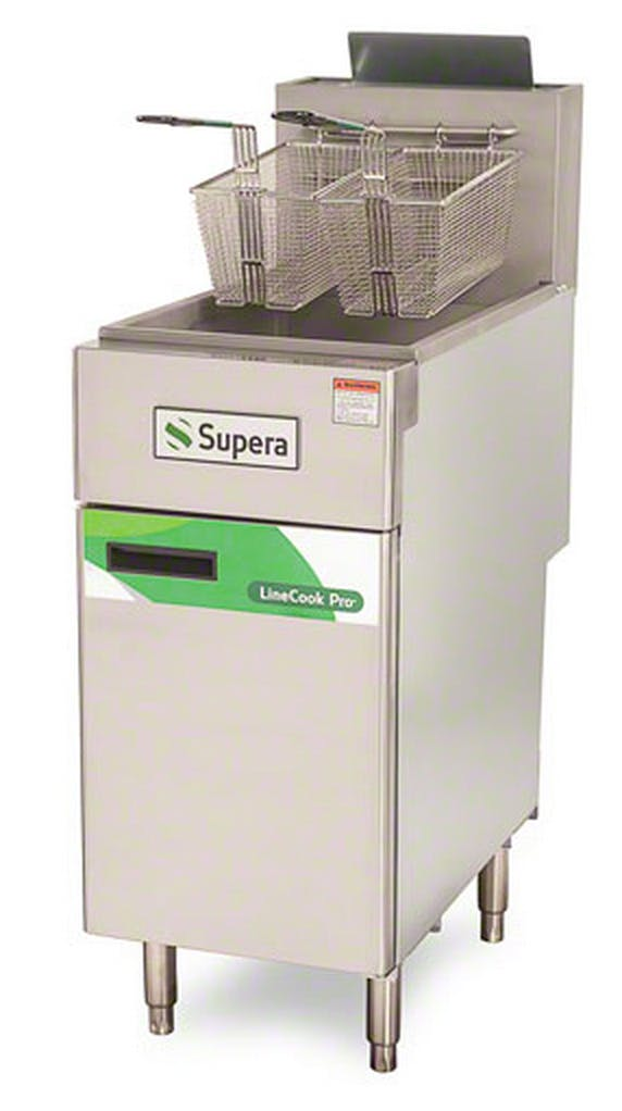 Supera (LCF3T-NG-1) - LineCook Pro 40 Lb. Natural Gas Fryer Commercial fryer sold by Food Service Warehouse