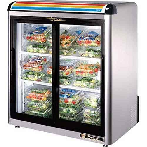 "True - GDM-9-S 37"" Countertop Glass Door Merchandiser Refrigerator Commercial refrigerator sold by Food Service Warehouse"