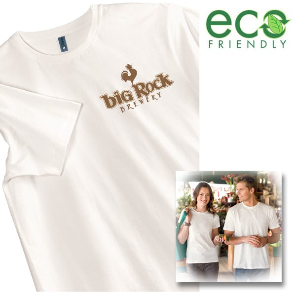 100% Organic Perfect Weight Tee Promotional shirt sold by MicrobrewMarketing.com