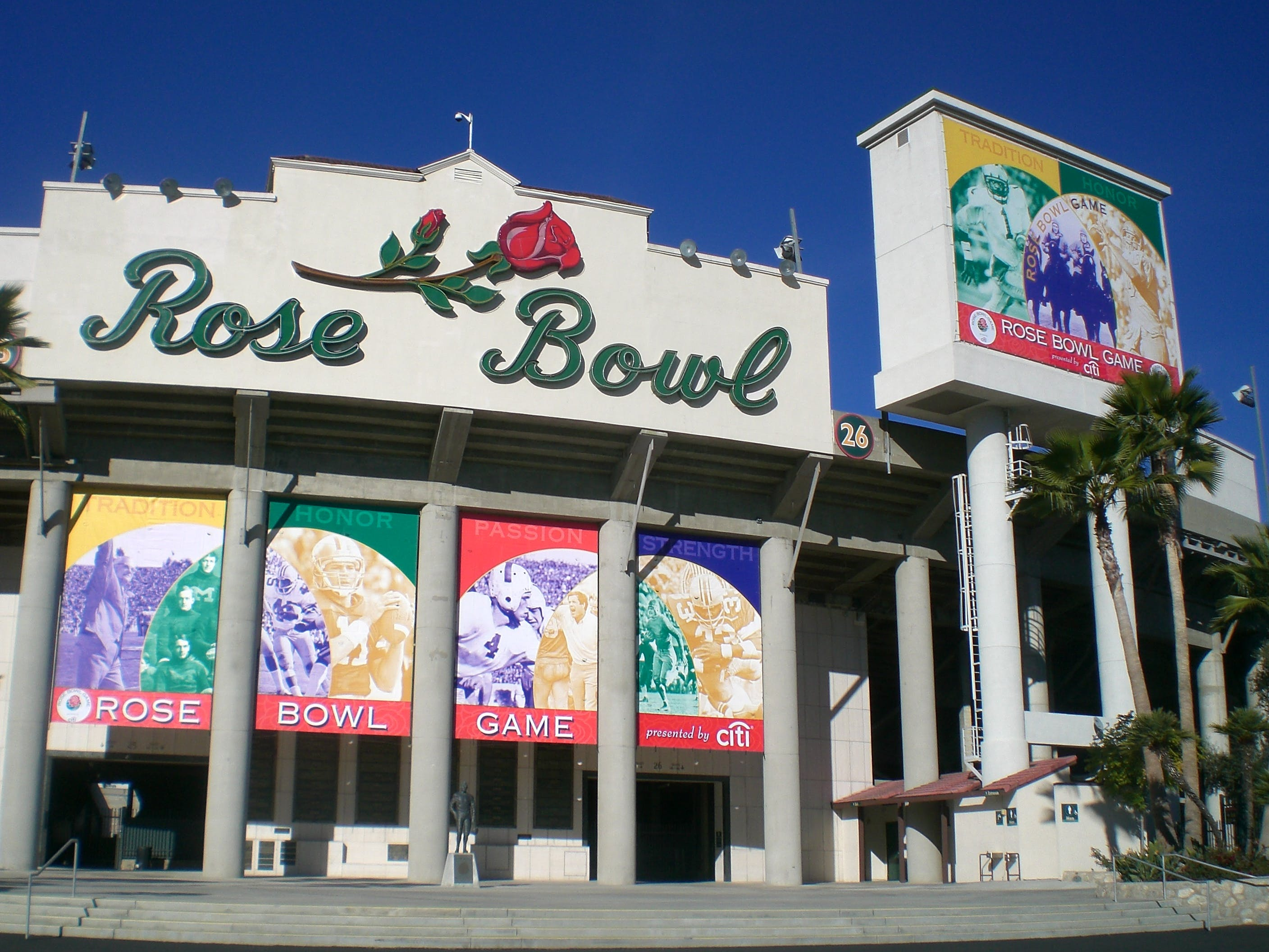 ROSE BOWL DECOR - VINYL BANNERS - sold by AAA FLAG & BANNER MFG. CO.
