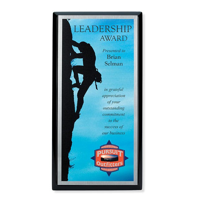 6x12 Connection Award Plaque - Black by Jaffa® Award sold by Distrimatics, USA