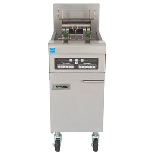 Frymaster RE14C-SD 50 lb. High Efficiency Electric Floor Fryer with Computer Magic Controls - 14 KW Commercial fryer sold by WebstaurantStore