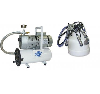Mini Porta Milker Complete Milking machine sold by Homesteader's Supply