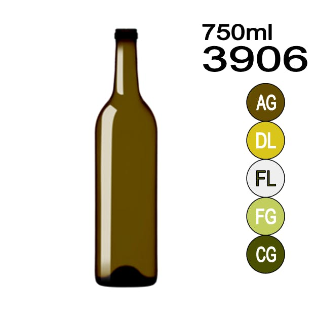 #3906 Wine bottle sold by Wholesale Bottles USA