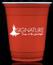 12 oz. Custom Disposable Blue & Red Solo Plastic Cups Disposable cup sold by Cup of Arms