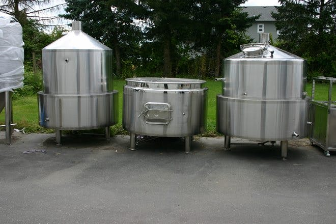 7 Barrel Brewing System Domes Direct Fired