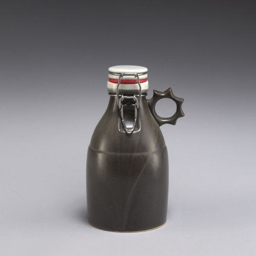 Sprocket Growlette - Satin Grey 32oz Growler sold by Portland Growler Company