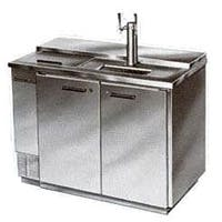 Beverage-Air Kegerator DD50C-1-S-CLUB Club Top 2-Keg Beer Cooler - All Stainless Kegerator sold by Beverage Factory