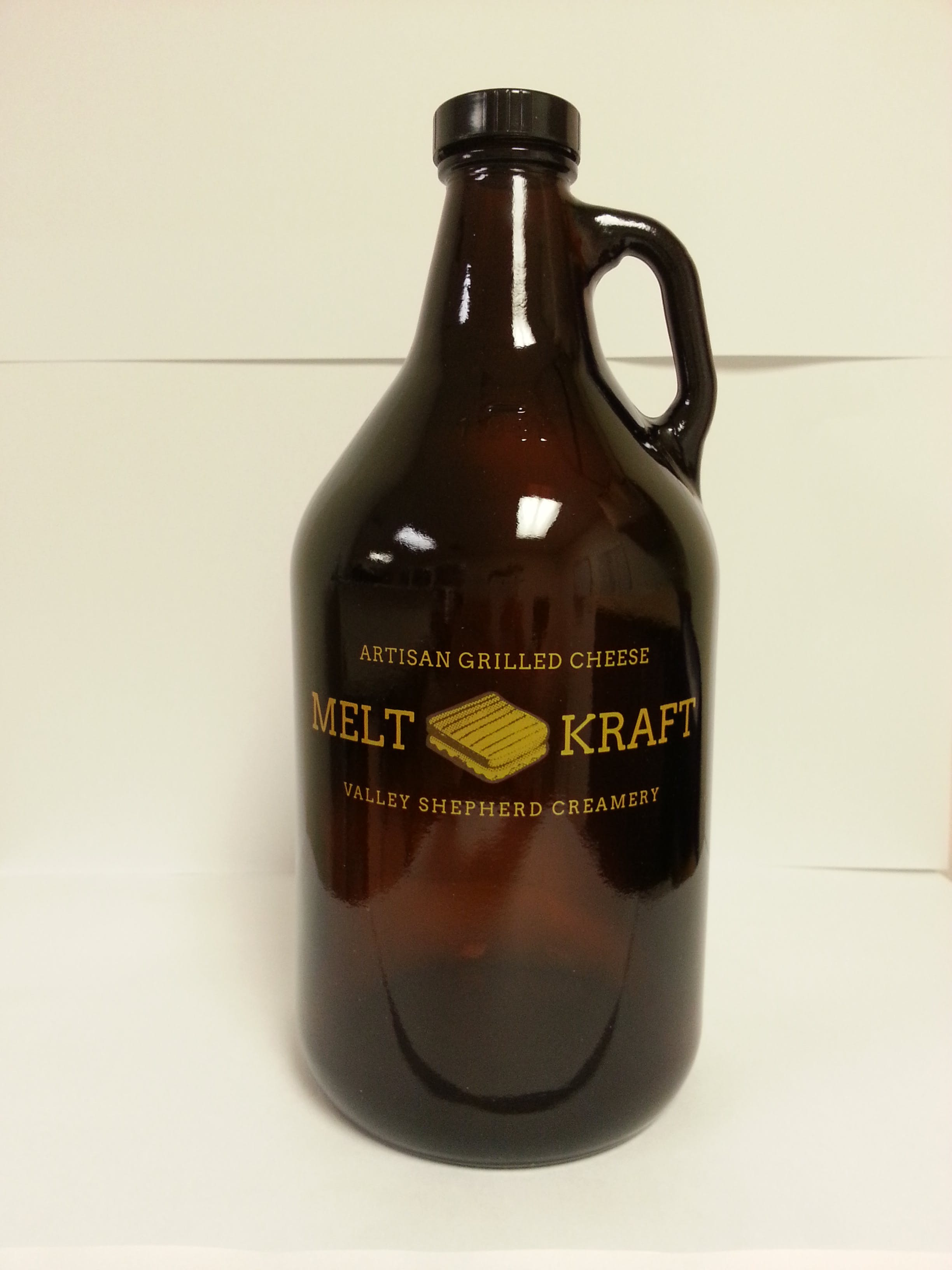32 oz Amber Growler Growler sold by Mission Screen Printing