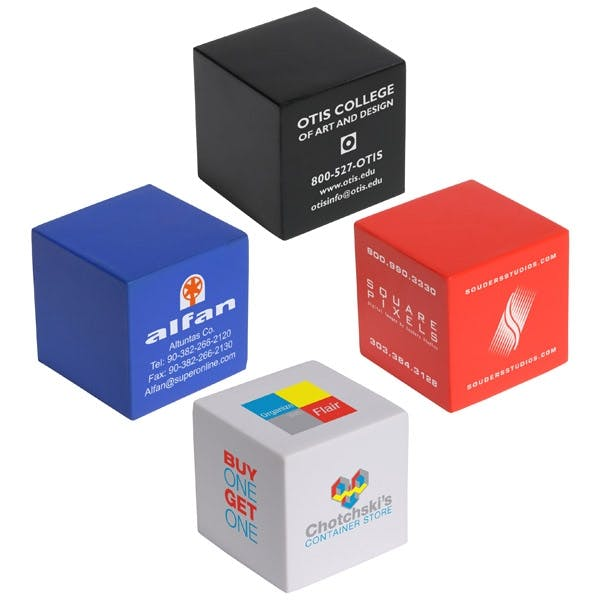 Cube Shaped Stress Reliever (Item # LILLU-CYXQT) Stress reliever sold by InkEasy