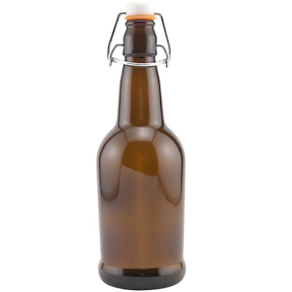 Boston Round Glass Bottles Crown Cap
