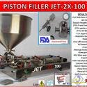 Piston Filler Double Head JET-2x100 Fills Liquids,Pastes, Scrubs, Peanut butter - Barrel sold by Pro Fill Equipment