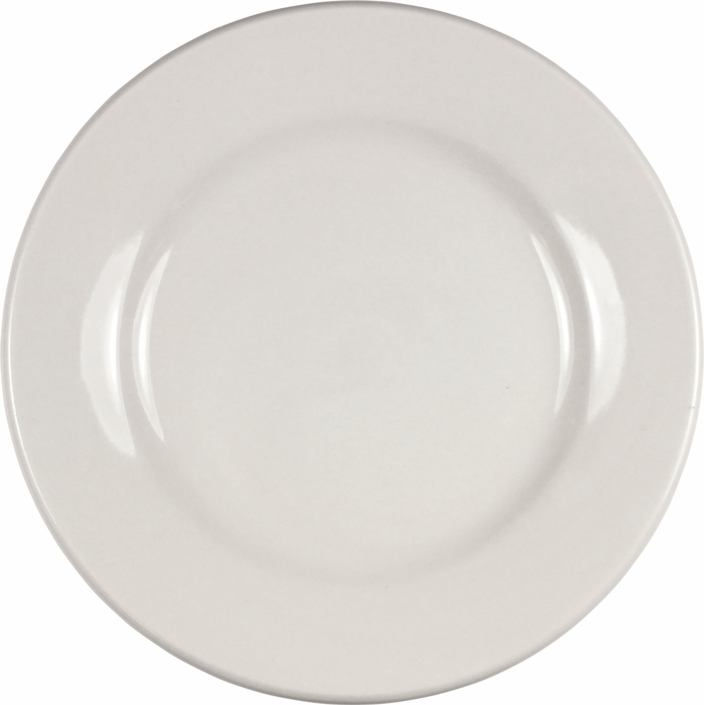"9"" American White Roma Dinner Plate Plate sold by Prestige Glassware"