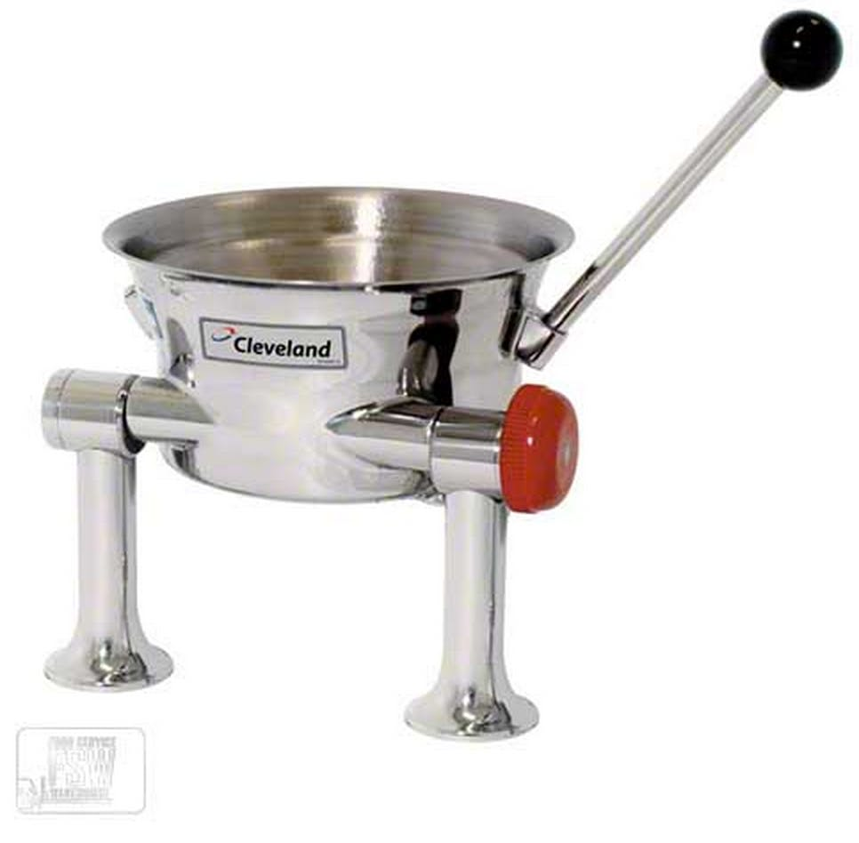 Cleveland Range (KDT-1-T) - 1 gal Tilting Direct Steam Oyster Kettle Steam kettle sold by Food Service Warehouse
