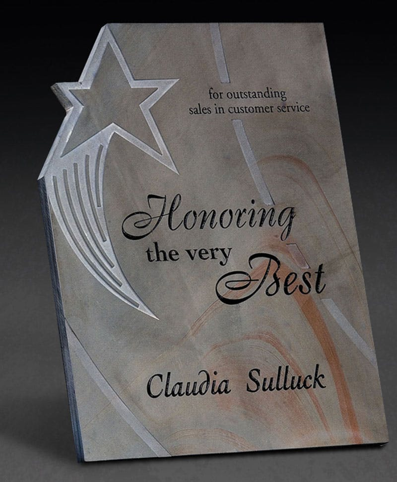 Star Slate award Award sold by Distrimatics, USA