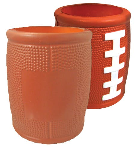 Football shape Can Cooler - Can Coolers - sold by Worldwide Ticket and Label