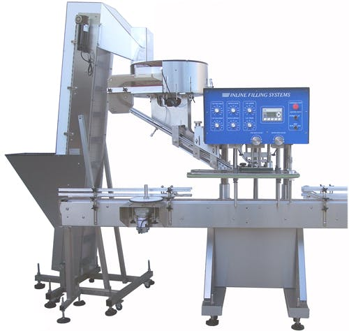 Model Capper NT-IL Automatic Inline - Automatic Capping Machine - sold by Inline Filling Systems