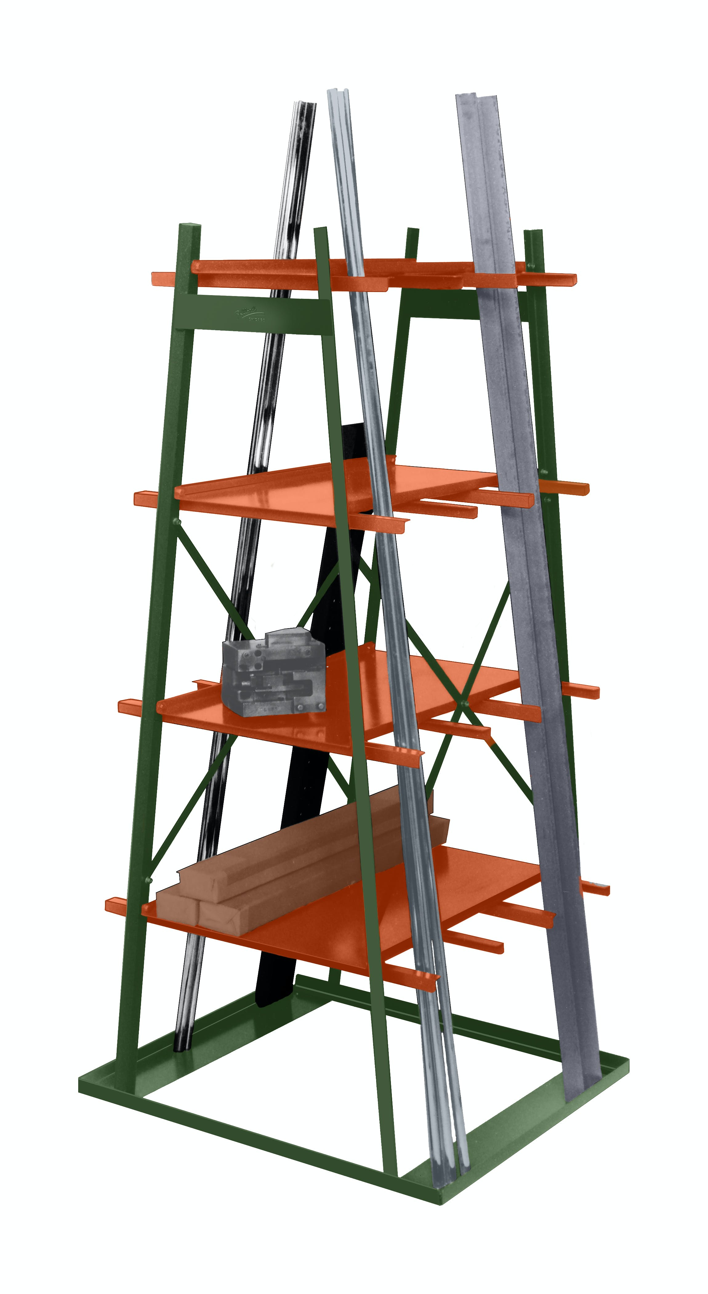 402 Rack Storage shelf sold by Pollard Brothers Manufacturing Company