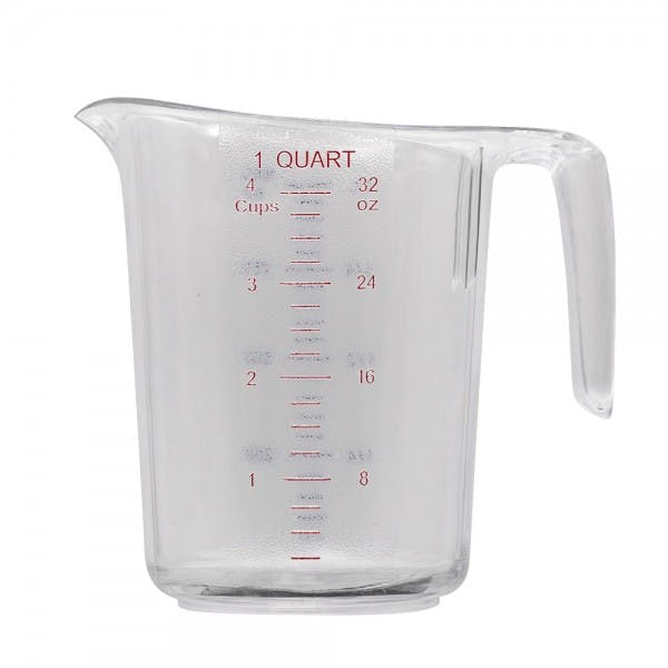 1 qt. Polycarbonate Clear Measuring Cup w/ Handle