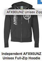 Independent Unisex Full-Zip Hoodie Promotional shirt sold by Grandstand Glassware and Apparel