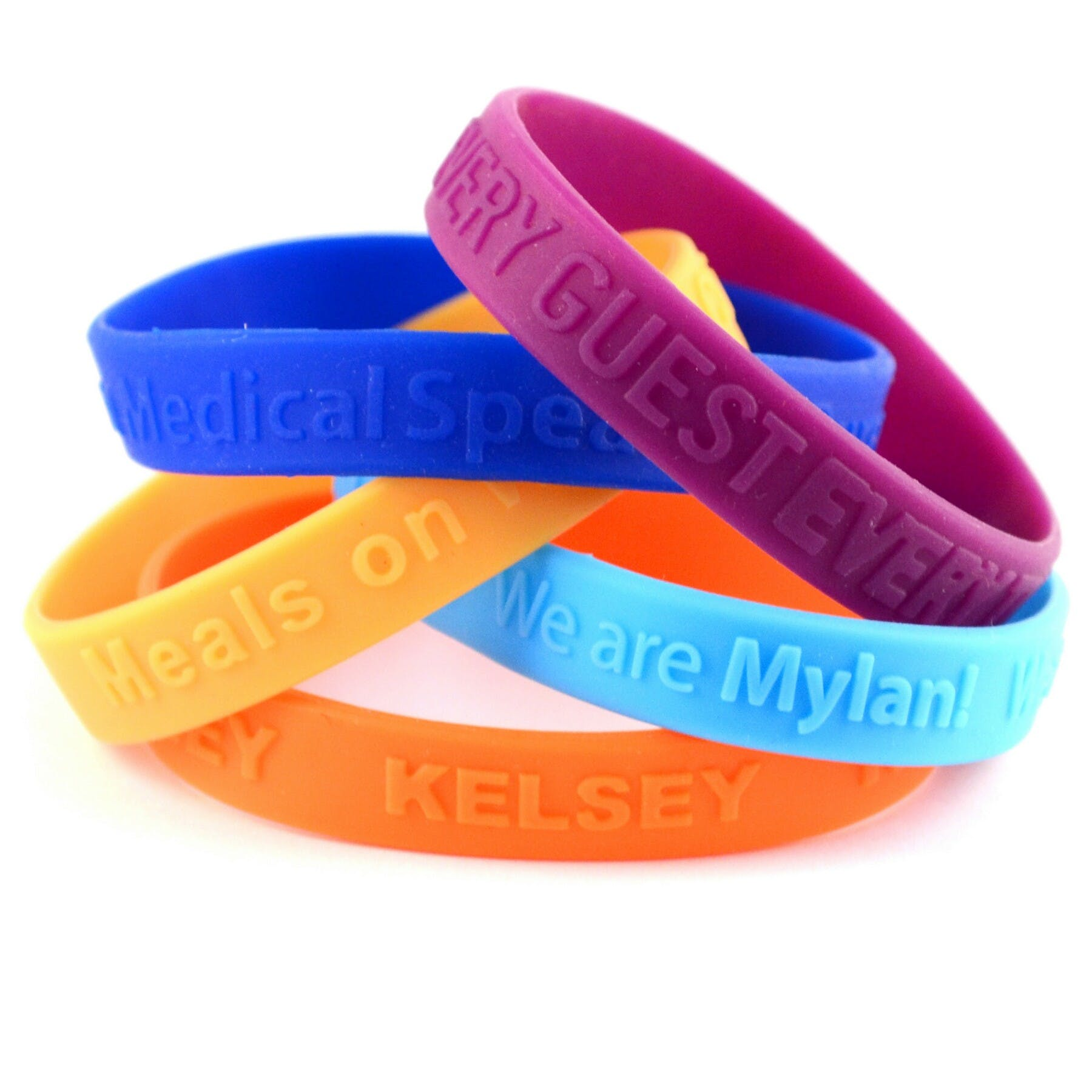 Embossed Wristband (Item # DIFMS-FZKED) Promotional wristband sold by InkEasy