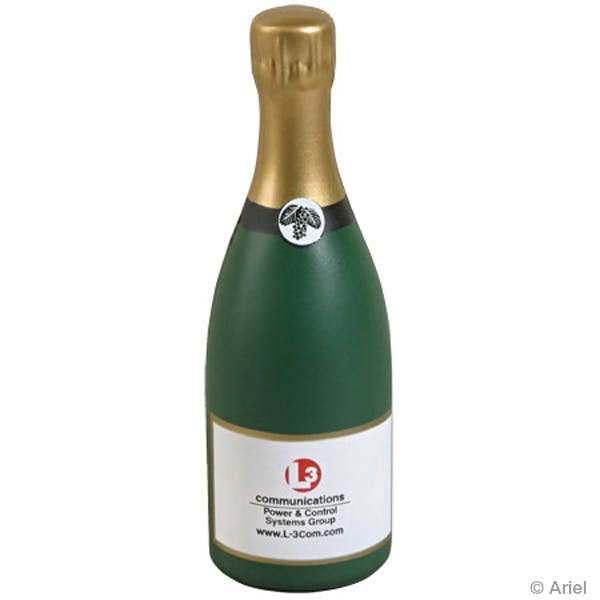 Ariel :: Champagne Bottle - LFD-CN01 Stress reliever sold by Distrimatics, USA