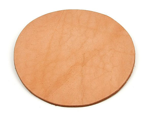 Round Leather Coaster - sold by CLWstudio