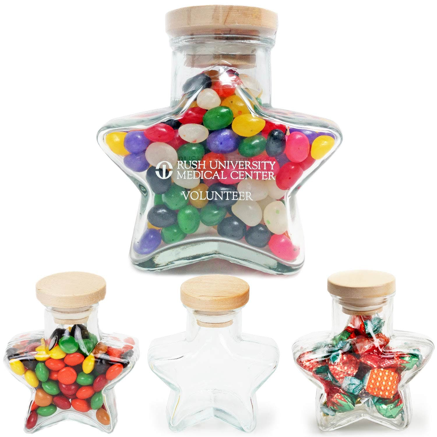 Star Shape Glass Jar (Item # YIHKS-BJJET) Glass Jar sold by InkEasy