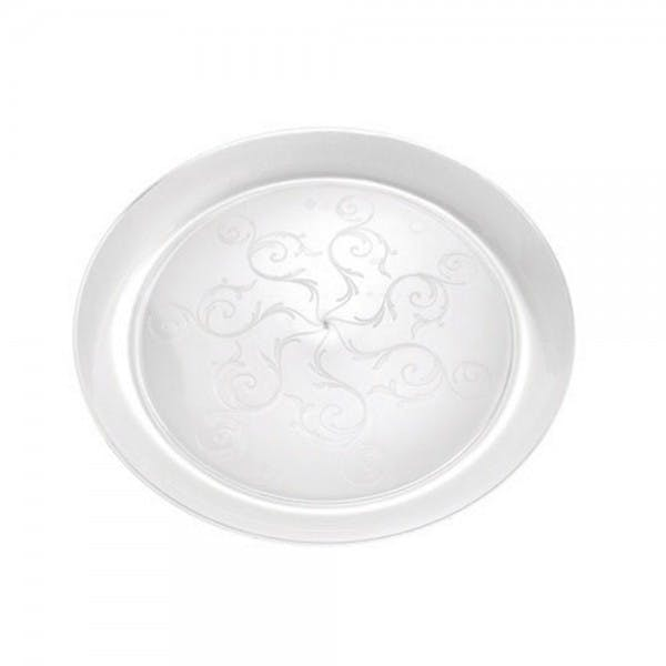 "Savvi Serve 10"" Clear Disposable Plastic Plate"