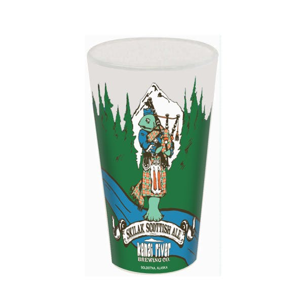 Full Color European Pilsner Glass Beer glass sold by MicrobrewMarketing.com