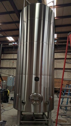 120 BBL Wine Tank Wine tank sold by Pioneer Tank and Vessel