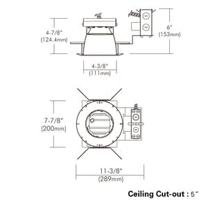 """4"""", Non-IC, Architectural Frame-in Kit Downlight with Interchangeable - sold by RelightDepot.com"""