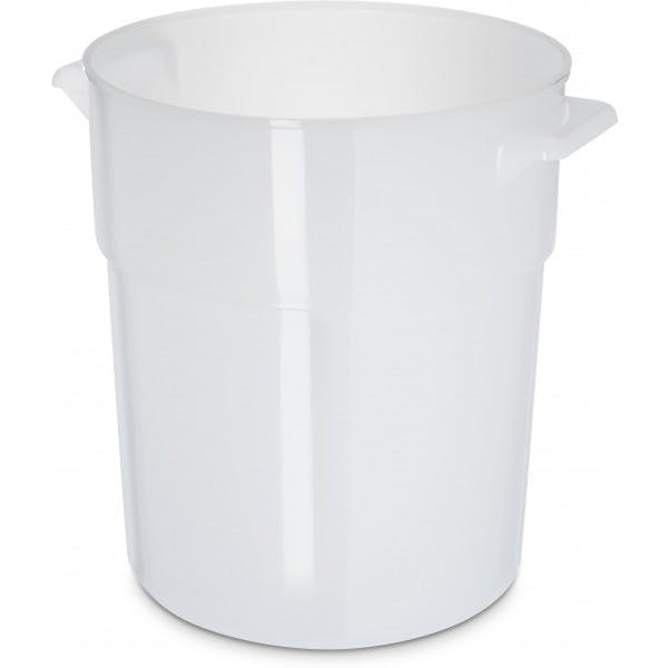 3-1/2 qt. White Plastic Storage Container
