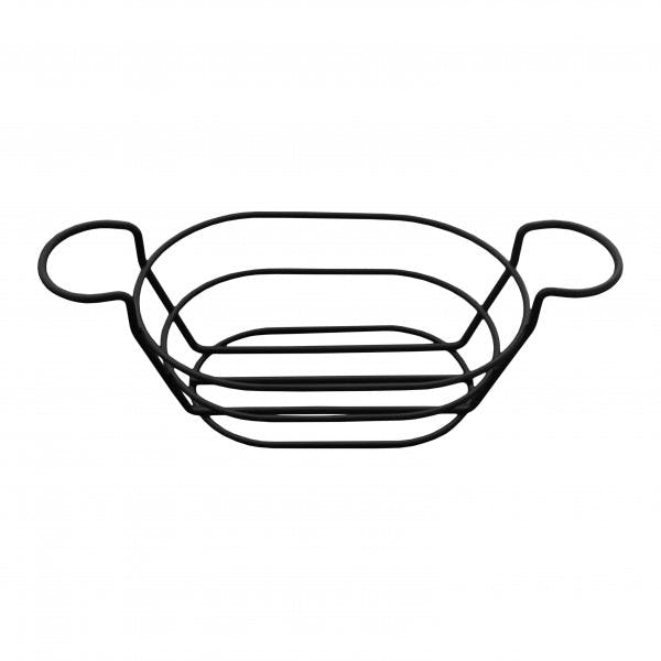 Black Oblong Wire Basket w/ Ramekin Holders