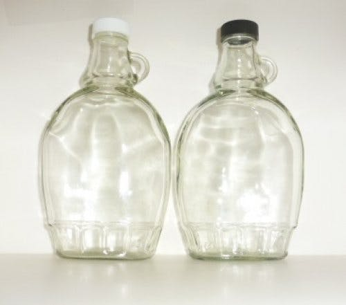Syrup glass jugs - sold by Cape Bottle Company, Inc.